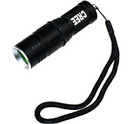 ZHISHUNJIA   3-Mode 1xCree XM-L T6 White Light Flashlight with Strap - (900LM,1 x 16340,Black)