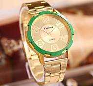 Women's  Fashion Green Dial Rhinestones Steel Belt Watch