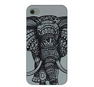 Elefanten mustern harte rückseitige Abdeckung für iPhone 4 / 4s