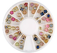 Colorful Pearl Metal Lipping Nail Art Decorations