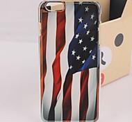 USA-Flagge flattern Kunststoff harte rückseitige Abdeckung für iphone 6