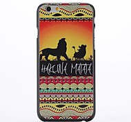 Animal Background Embossment Pattern  PC Hard Case for iPhone 6