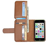NEW Leather Wallet Full Body Cases for iPhone 5C(Assorted Colors)