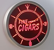 nc0330 Fine Cigars Neon Sign LED Wall Clock