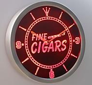 nc0330 charutos finos sinal de néon relógio de parede led