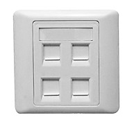 86 Model 4 Ports Free Cable Socket Wall Panel
