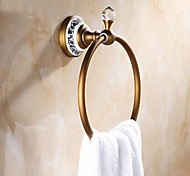 Antique Brass Wall-mounted Towel Ring