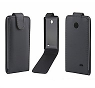 Solid Color Pattern Open Up and Down PU Leather Full Body Case for Nokia X/X Dual SIM/A110