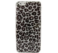Gray Leopard Plastic Hard Back Cover for iPhone 6