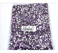 3MM Fashion DIY Purple Acrylic Flatback Faceted Round Sticky Rhinestones Gems(1000 Pcs)