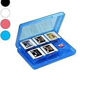 Tarjeta de memoria cubierta de la caja de almacenamiento de cartuchos titular 28-en-1 juego para nintendo 3ds / 3dsll