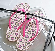 Personalized Women Summer Slippers With Pink Leopard CL-14-005-A/B