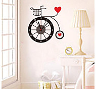 ZOOYOO® tyre red heart shape Electronic battery timekeeper clock wall sticker home decor for you living room