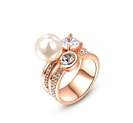 Fashion Pearl Rings For Women Elegant Stainless Steel Ring Birthday Gift Pearl Jewelry New 2014