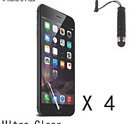High Definition (HD) Screen Protector with Stylus Touch Pen for iPhone 6 Plus (4 pcs)