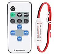 12a 1-Kanal Mini-LED-RF Wireless Dimmer mit Fernbedienung für einfarbige Streifen LED-Licht (DC 5 ~ 24 V)