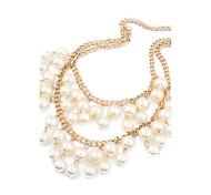 Frauen Alloy Doppel Neue Perlenkette