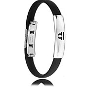 Men's Fashion Personality Titanium Steel Silicone Twelve Constellation Libra Bracelets