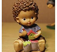 boneca europeu bonito com olhos grandes e raspas de chocolate para decoração de mesa brinquedos resina