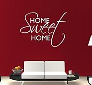 jiubai® doce citação casa parede adesivo de parede decalque, 57 * 80 centímetros