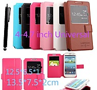 KARZEA™   Universal S View Window Flip Magnetic PU Leather Case