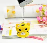 Birthday Gift Mobile Phone's Accessories Tiger Shape Fiber Creative Towel (Random Color)