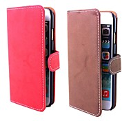 Retro Matte Leather PU Leather Cover with Card Slot  for iPhone 6(Assorted Colors)