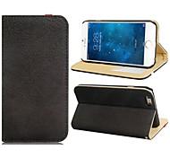 Gummiband-Stil stumpfe polnische Kunstleder Soft-Cover-Case mit Ständer und Kartenslots für iphone 6 (verschiedene Farben)