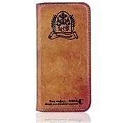 hhmm la restauration des moyens anciens étuis en cuir PU avec le livre de stand de dieu pour l'iphone 6