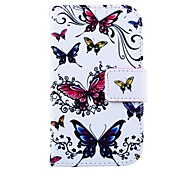 Butterflies Pattern PU Leather Full Body Case for for Samsung S3 Mini I8190N