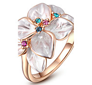 ROXI Classic Austrian Crystals Rose Gold Plated Statement Ring(1 Pc)