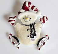 Fashion Christmas Happy Snowman Alloy Brooch