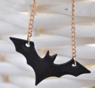 Personality Black Bat Necklace