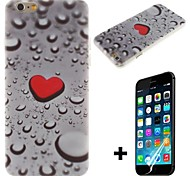 The Droplets Of Hearts Pattern Hard with Screen Protector Cover for iPhone 6 Plus