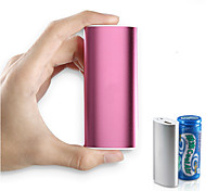 6000mAh Aluminum Cylinder Shaped External Battery  for iPhone 6/5/5S  Samsung S4/5 HTC LG and Others Mobile Devices