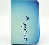 Lächeln von Herzen Muster Ganzkörper Fall mit Ständer für Samsung Galaxy Tab 3 lite T110