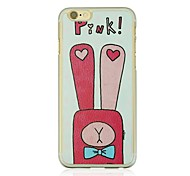 Long Ear Rabbit  Leather Vein Pattern PC Hard Case for iPhone 6