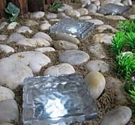 camino cubo de hielo de ladrillo solar de cristal luz de la lámpara de jardín