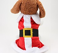 Dog Coat Red Winter Christmas Christmas