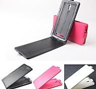 venda quente 100% couro pu couro flip-up e para baixo caso para oppo find7 x9007 (cores sortidas)