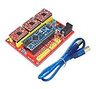 3DV4 CNC Shield V4 + Nano 3.0 + Reprap Stepper Drivers Set for Arduino