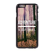 Adventure is Out There Pattern Aluminum Hard Case for iPhone 6