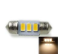 31mm (sv8.5-8) 1.5w 3x5730smd 90-120lm 3000-3500K lumière blanche chaude Ampoule LED pour éclairage de la plaque d'immatriculation de voiture