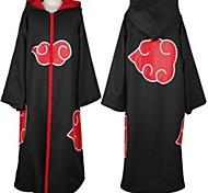 naruto akatsuki cosplay cape noire avec capuchon