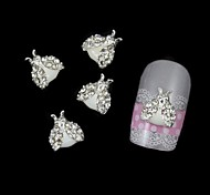 10pcs DIY Alloy Insect With Rhinestone Wings Accessories For Sticking Nail Art Decoration