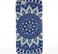Blu e Hard Case White Porcelain Motivo per iPhone5/5S