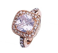 Unsex New Fashion 18K Gold Plated Rings Cubic Zirconia