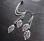 Women's European And American  Fashion  Simple Leaf  Earring