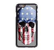 Skull US Flag Design Aluminum Hard Case for iPhone 6