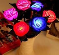 LED Color Change Transparent Rose Shaped Mini Light Christmas Props